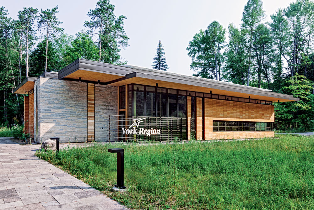 York Region Bill Fisch Forest Stewardship Education Centre South Facade