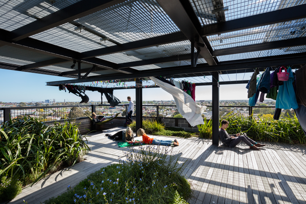 The rooftop garden of The Commons by Breathe Architecture
